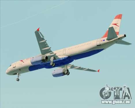 Airbus A321-200 Austrian Airlines pour GTA San Andreas vue intérieure