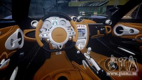 Pagani Huayra 2013 Carbon pour GTA 4 est une vue de l'intérieur