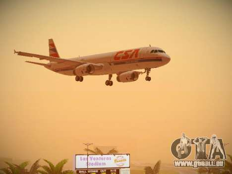 Airbus A321-232 Czech Airlines für GTA San Andreas Seitenansicht