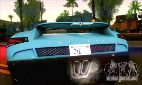Grotti Cheetah (IVF) für GTA San Andreas zurück linke Ansicht