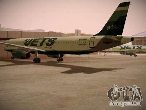 Airbus A321-232 jetBlue NYJets für GTA San Andreas rechten Ansicht