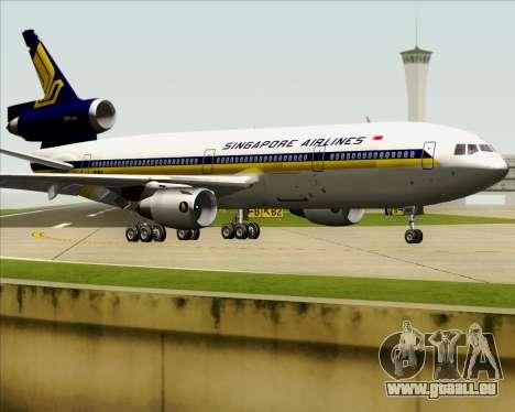 McDonnell Douglas DC-10-30 Singapore Airlines pour GTA San Andreas vue de côté