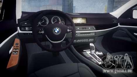 BMW 530d F11 Unmarked Police [ELS] pour GTA 4 est une vue de l'intérieur