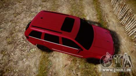 Jeep Grand Cherokee SRT8 license plates für GTA 4 rechte Ansicht