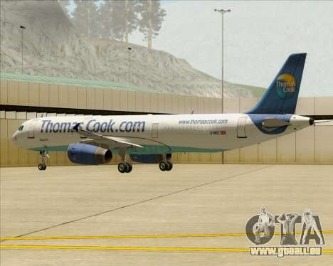 Airbus A321-200 Thomas Cook Airlines pour GTA San Andreas moteur