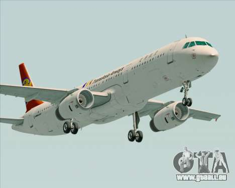 Airbus A321-200 TransAsia Airways für GTA San Andreas linke Ansicht