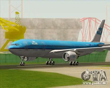 Airbus A330-200 KLM - Royal Dutch Airlines pour GTA San Andreas laissé vue