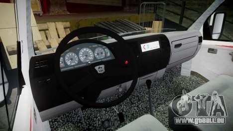 GAS-32214 Krankenwagen für GTA 4 Rückansicht