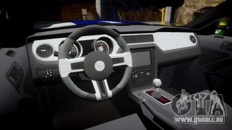 Ford Mustang GT 2014 Custom Kit PJ4 pour GTA 4 est une vue de l'intérieur