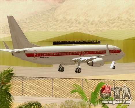 Boeing 737-800 EG&G - Janet für GTA San Andreas Seitenansicht