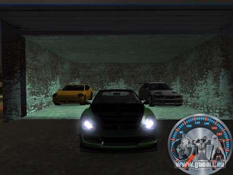 Métal classique de l'indicateur de vitesse pour GTA San Andreas troisième écran