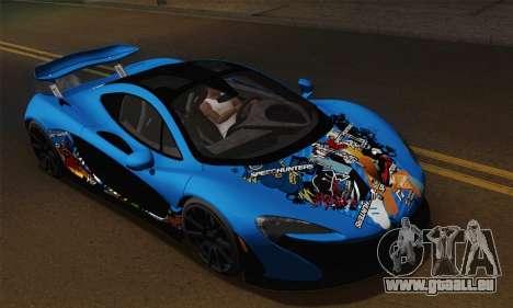 McLaren P1 Black Revel pour GTA San Andreas vue de droite