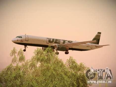 Airbus A321-232 jetBlue NYJets für GTA San Andreas Unteransicht