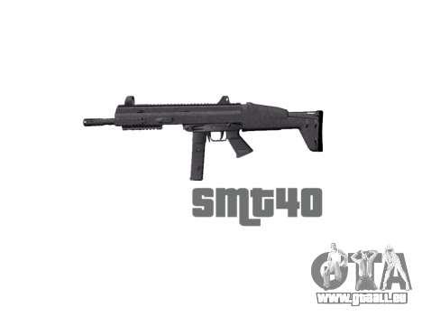 Pistolet SMT40 avec crosse icon1 pour GTA 4 troisième écran