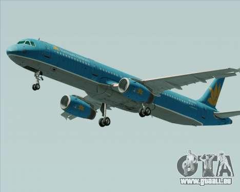 Airbus A321-200 Vietnam Airlines für GTA San Andreas linke Ansicht