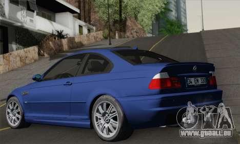 BMW E46 M3 pour GTA San Andreas laissé vue