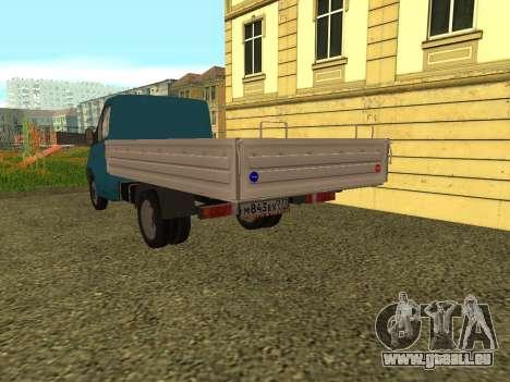 GAZelle Weiter für GTA San Andreas zurück linke Ansicht