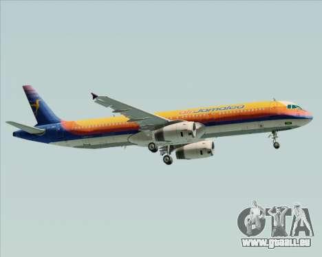 Airbus A321-200 Air Jamaica für GTA San Andreas Seitenansicht