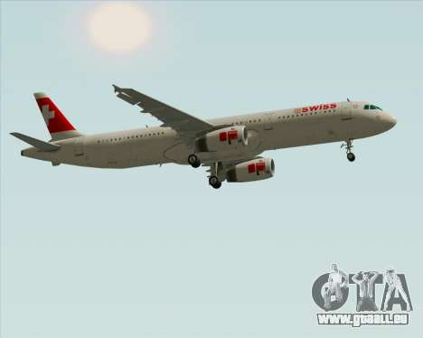 Airbus A321-200 Swiss International Air Lines pour GTA San Andreas vue intérieure