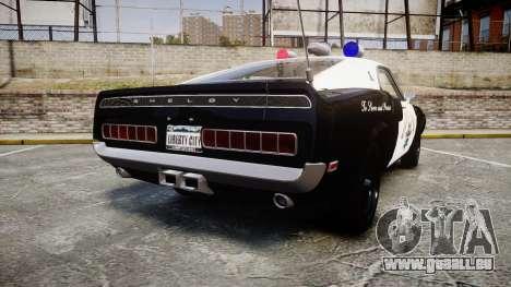 Shelby GT500 428CJ CobraJet 1969 Police für GTA 4 hinten links Ansicht