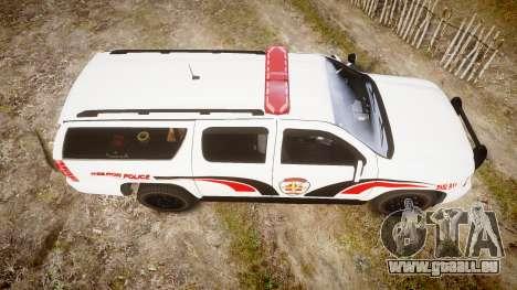 Chevrolet Suburban 2008 Hebron Police [ELS] Red für GTA 4 rechte Ansicht