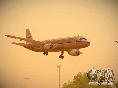 Airbus A320-214 Aeroflot Retrojet pour GTA San Andreas vue intérieure