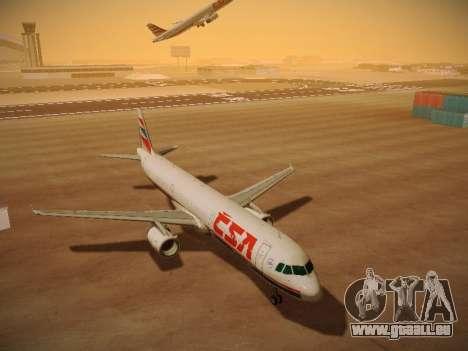 Airbus A321-232 Czech Airlines pour GTA San Andreas sur la vue arrière gauche