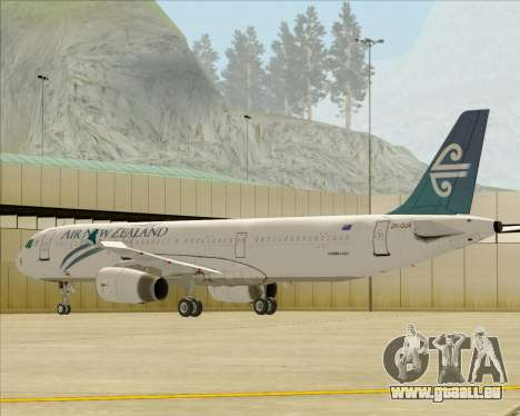 Airbus A321-200 Air New Zealand für GTA San Andreas Räder