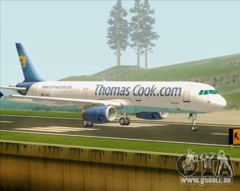 Airbus A321-200 Thomas Cook Airlines für GTA San Andreas rechten Ansicht