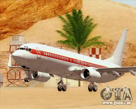 Boeing 737-800 EG&G - Janet für GTA San Andreas Unteransicht