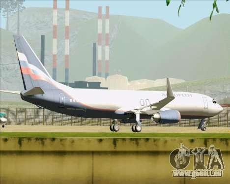 Boeing 737-8LJ Aeroflot - Russian Airlines pour GTA San Andreas vue de dessous
