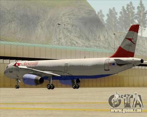 Airbus A321-200 Austrian Airlines pour GTA San Andreas vue de dessous