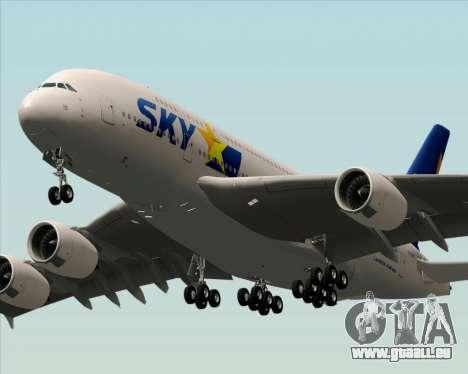 Airbus A380-800 Skymark Airlines pour GTA San Andreas sur la vue arrière gauche