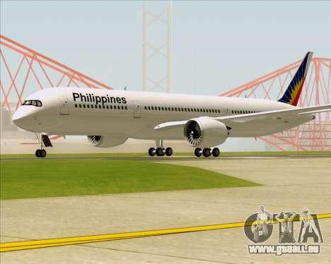 Airbus A350-900 Philippine Airlines pour GTA San Andreas sur la vue arrière gauche