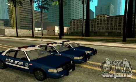 FCPD Ford Crown Victoria für GTA San Andreas zurück linke Ansicht