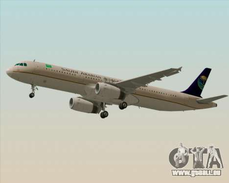 Airbus A321-200 Saudi Arabian Airlines pour GTA San Andreas moteur