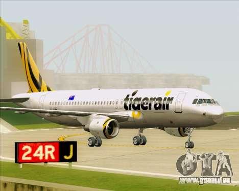 Airbus A320-200 Tigerair Australia pour GTA San Andreas laissé vue