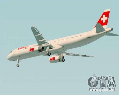 Airbus A321-200 Swiss International Air Lines für GTA San Andreas Räder