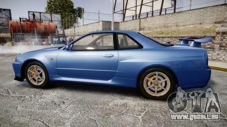 Nissan Skyline R-34 V-spec pour GTA 4 est une gauche