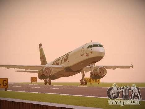 Airbus A321-232 jetBlue NYJets pour GTA San Andreas laissé vue