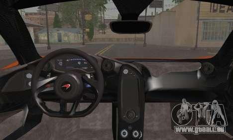 McLaren P1 Black Revel pour GTA San Andreas sur la vue arrière gauche