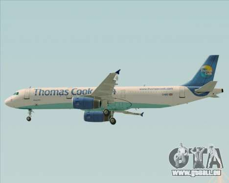 Airbus A321-200 Thomas Cook Airlines für GTA San Andreas obere Ansicht