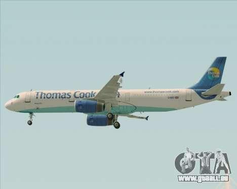 Airbus A321-200 Thomas Cook Airlines pour GTA San Andreas vue de dessus