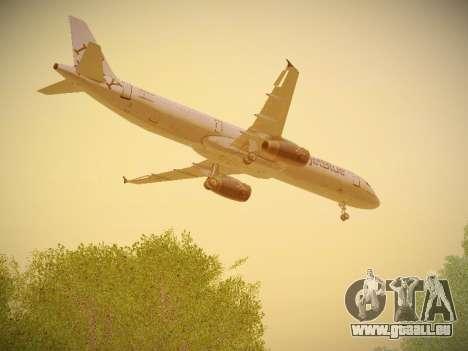 Airbus A321-232 jetBlue I love Blue York pour GTA San Andreas vue de côté