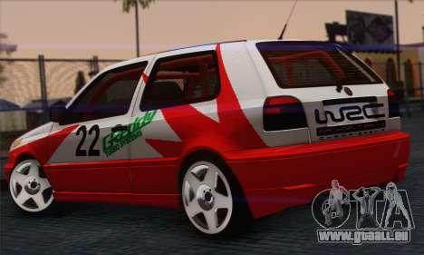Volkswagen Golf Mk3 pour GTA San Andreas laissé vue