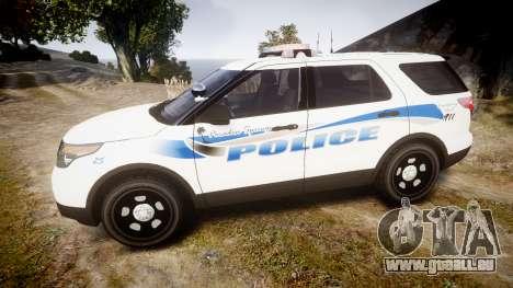Ford Explorer 2013 PS Police [ELS] für GTA 4 linke Ansicht