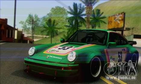 Porsche 930 Turbo Look 1985 Tunable pour GTA San Andreas vue de dessous