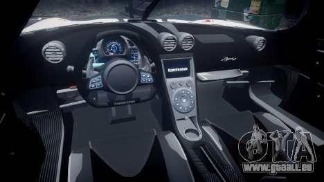 Koenigsegg Agera R 2013 [EPM] RX-93 pour GTA 4 Vue arrière