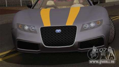 GTA 5 Adder (IVF) pour GTA San Andreas sur la vue arrière gauche