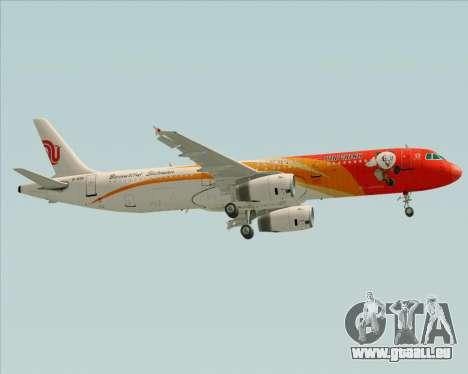 Airbus A321-200 Air China (Beautiful Sichuan) für GTA San Andreas Seitenansicht